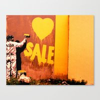 sale Canvas Prints featuring SALE by very giorgious