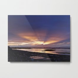 Beams of Light across the Sky Metal Print