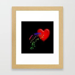 Music From The Heart Framed Art Print