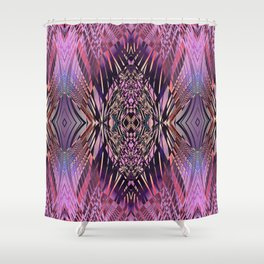 PRETTY PINK SWEEPING LINE PATTERN Shower Curtain