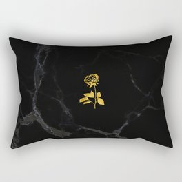 Forever Petal (Black Gold) Rectangular Pillow