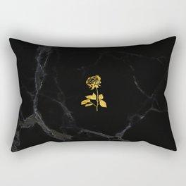 Forever Petal (Black Gold) Rectangular Pillow