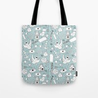 old school Tote Bags featuring Old School by naidl