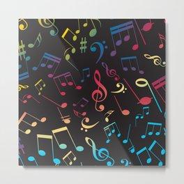 Musical Notes 2 Metal Print