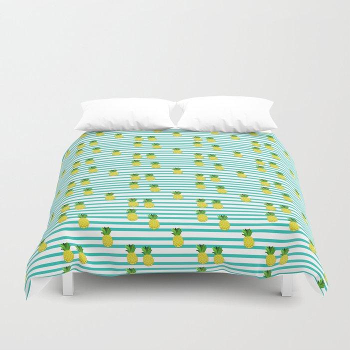 Ananas tropical summer pattern Duvet Cover