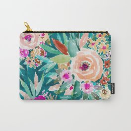 GOOD LIFE Colorful Floral Carry-All Pouch