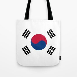 National flag of South Korea, officially the Republic of Korea, Authentic version - color and scale Tote Bag