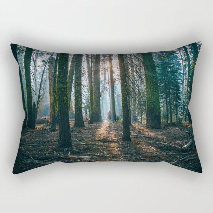 The woods are deep Rectangular Pillow