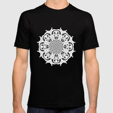Venetian lace circular ornament Mens Fitted Tee Black MEDIUM