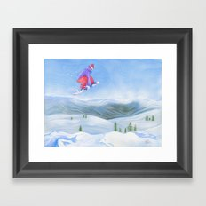 Winter Flight - Drawing 1 Framed Art Print