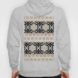 Elegant black faux gold chic glitter floral motif Hoody