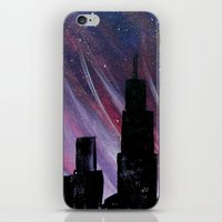 chicago iPhone & iPod Skins featuring Chicago by Tesseract