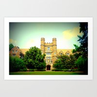 medical Art Prints featuring duke medical by Chromatic Reflections