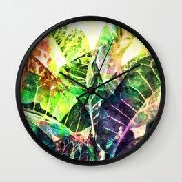 Splatter Leaves Wall Clock