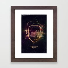 Asian Disco Laser Framed Art Print