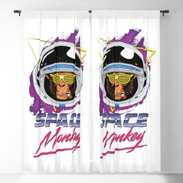 Space Monkey 1980s Blackout Curtain