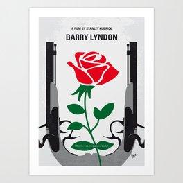 No1019 My Barry Lyndon minimal movie poster Art Print