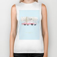 simpsons Biker Tanks featuring The Simpsons | Famous Cars by Fred Birchal