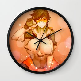 T. being sexy Wall Clock