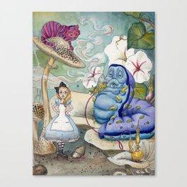 Alice & The Worm Canvas Print