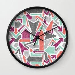 Patterned Arrows Wall Clock