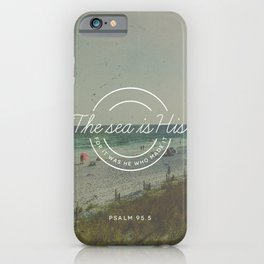 Psalm 95:5 iPhone Case