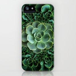 ORNATE JADE & DARK GREEN SUCCULENT  GARDEN iPhone Case