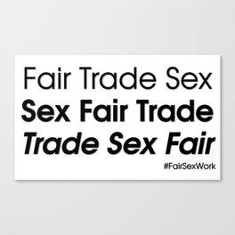 Trade sex fair Canvas Print