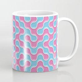 Blue Pink Truchet Tilling Pattern Coffee Mug