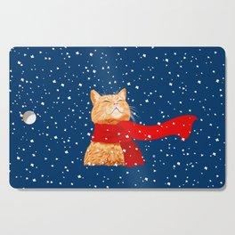 Tabby loves Snow... Cutting Board