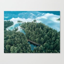 Mountain in a Lake - Landscape Photography Canvas Print