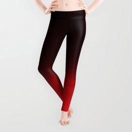 Red Ombré Block Design Leggings