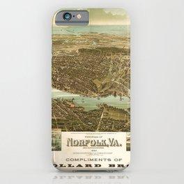 Panorama of Norfolk, Virginia and Surroundings (1892) iPhone Case