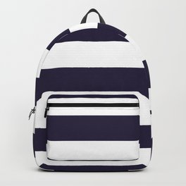Dark eclipse Blue and White Wide Horizontal Cabana Tent Stripe Backpack