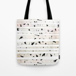birch watercolor pattern 2018 Tote Bag