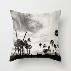 Venice beach. B&W Venice. Throw Pillow