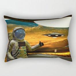 Hitchinghiking Across The Universe Rectangular Pillow