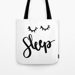 Sleep Handlettering text Tote Bag
