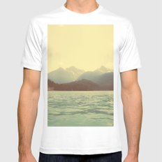 You are a ghost to me - Diablo Lake White MEDIUM Mens Fitted Tee