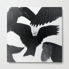 Hitchcock: The Birds Metal Print
