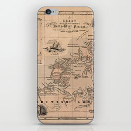 Map of the Northwest Passage 1856 iPhone Skin