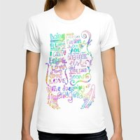 lyrics T-shirts featuring Lettering Lyrics by Insait
