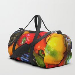 Colorful Bell Peppers Duffle Bag