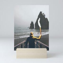 Wanderer at the Washington State Beach Mini Art Print