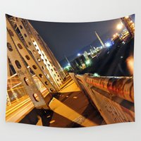 industrial Wall Tapestries featuring Industrial Light by Fleeting Glimpse Photography