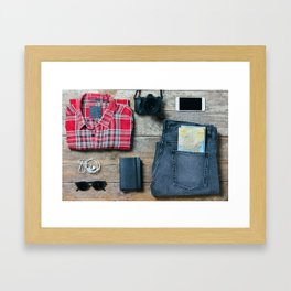 Get ready for the trip. Man edition Framed Art Print