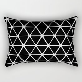 HEX - black & white Rectangular Pillow