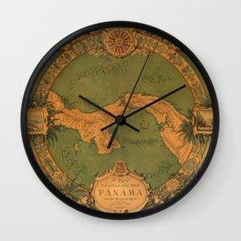 Historical Map of Panama Wall Clock