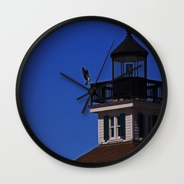 The Osprey and the Lighthouse II Wall Clock