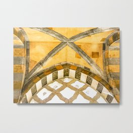 The Golden Arches of the Amalfi Cathedral in Amalfi, Italy Metal Print